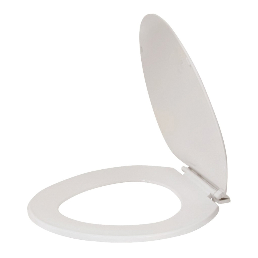 Picture of ProSource KJ-873A1-WH Toilet Seat, Elongated, Plastic, White