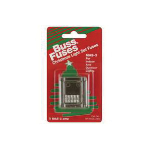 Picture of Bussmann BP/MAS-3X5 Fast-Acting Fuse, 3 A