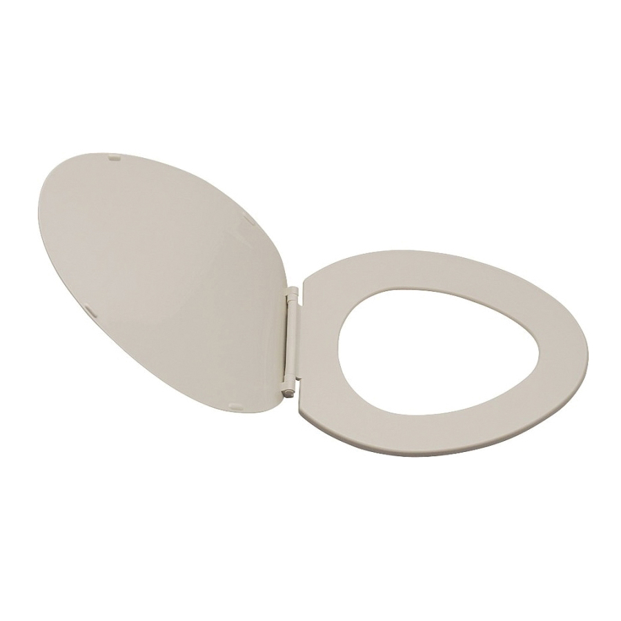 Picture of ProSource KJ-873A1-BN Toilet Seat, Elongated, Plastic, Bone