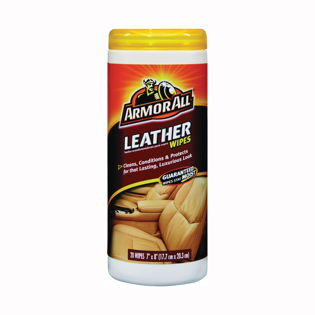 Picture of ARMOR ALL 10881-4 Leather Wipes, 20
