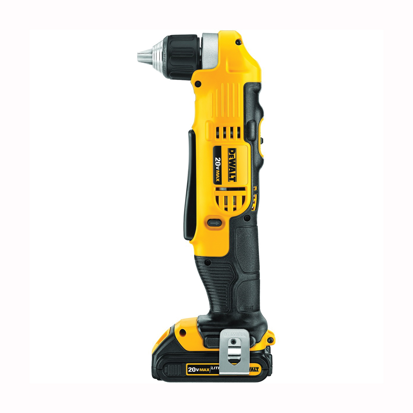 Picture of DeWALT DCD740C1 Drill/Driver Kit, Kit, 20 V Battery, 3/8 in Chuck, Keyless, Ratcheting Chuck, Battery Included: Yes