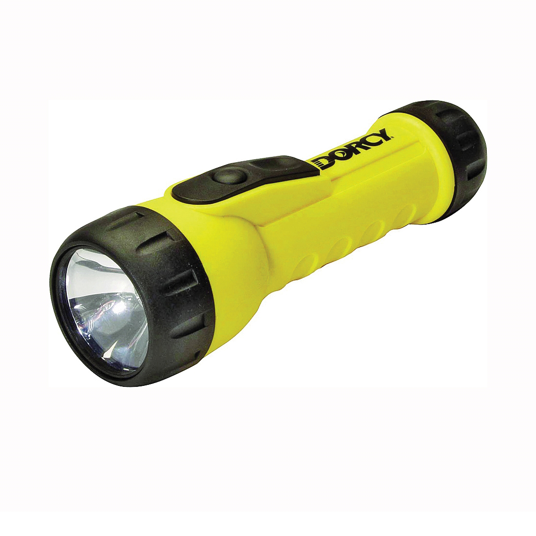 Picture of Dorcy 41-2350 Flashlight, D Battery, LED Lamp, 20 Lumens, 37 m Beam Distance, 123 hr Run Time, Yellow