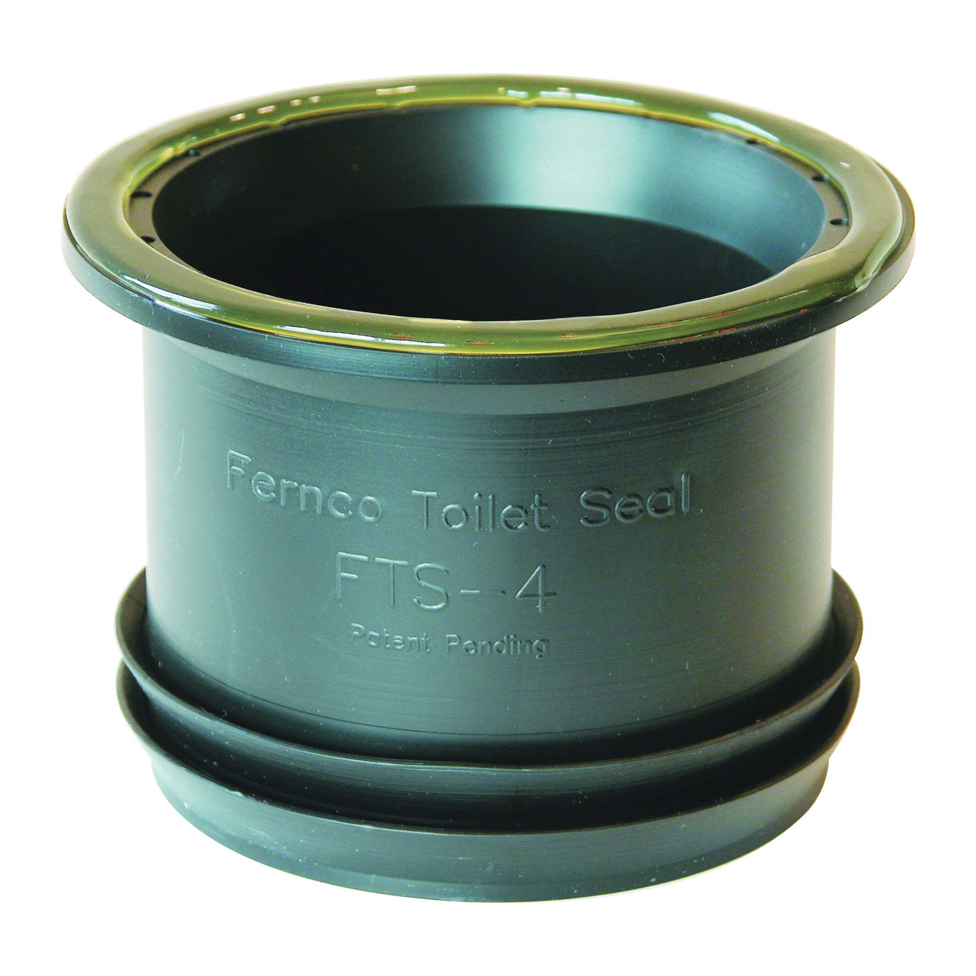Picture of FERNCO FTS-4 Wax Free Toilet Seal 4 in, Elastomeric PVC, Black, For: 4 in Drain Pipes and Wall or Floor-Mount Toilets