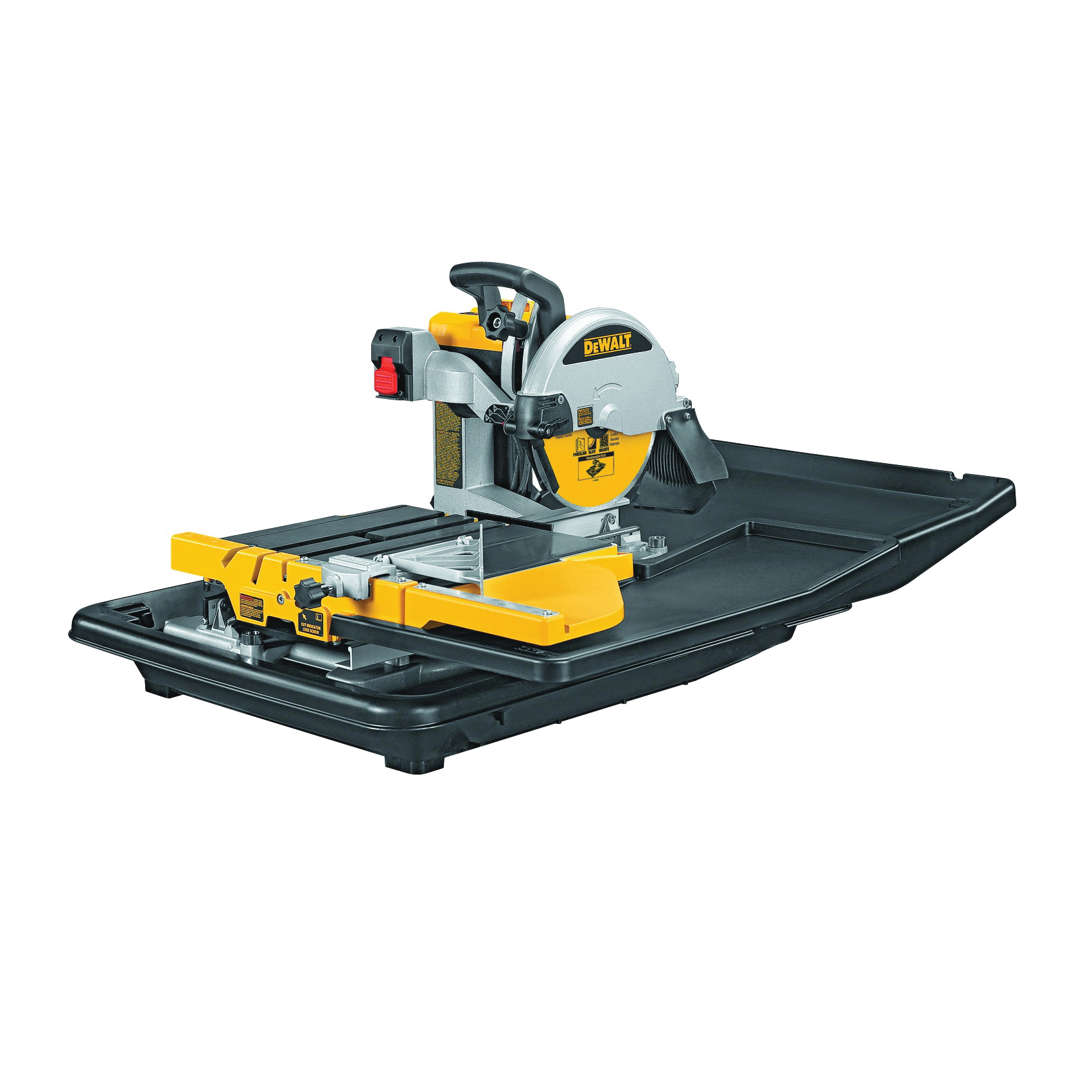 Picture of DeWALT D24000 Tile Saw, 120 V, 15 A, 10 in Dia Blade, 25 in Ripping, 18 in Cutting Capacity