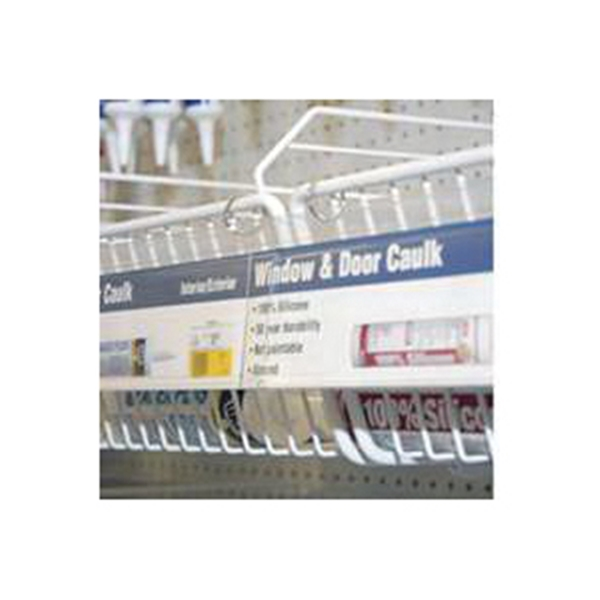 Picture of SOUTHERN IMPERIAL R16-3X48HSR Sign Rail Kit, 48 in L, 3 in W, PVC, Clear