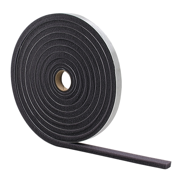 Picture of M-D 02071 Foam Tape, 1/2 in W, 17 ft L, 1/4 in Thick, Gray