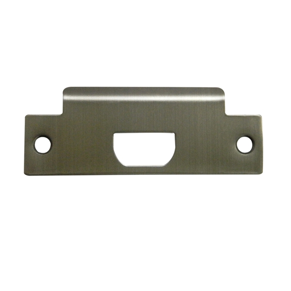 Picture of ProSource 006-C08690V36-PS T-Strike Plate, 2-3/4 in L, 1-1/8 in W, Stainless Steel