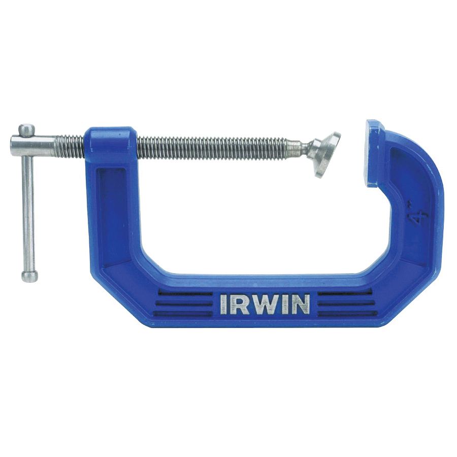 Picture of IRWIN 225102ZR C-Clamp, 900 lb Clamping, 2 in Max Opening Size, 1-5/16 in D Throat, Steel Body