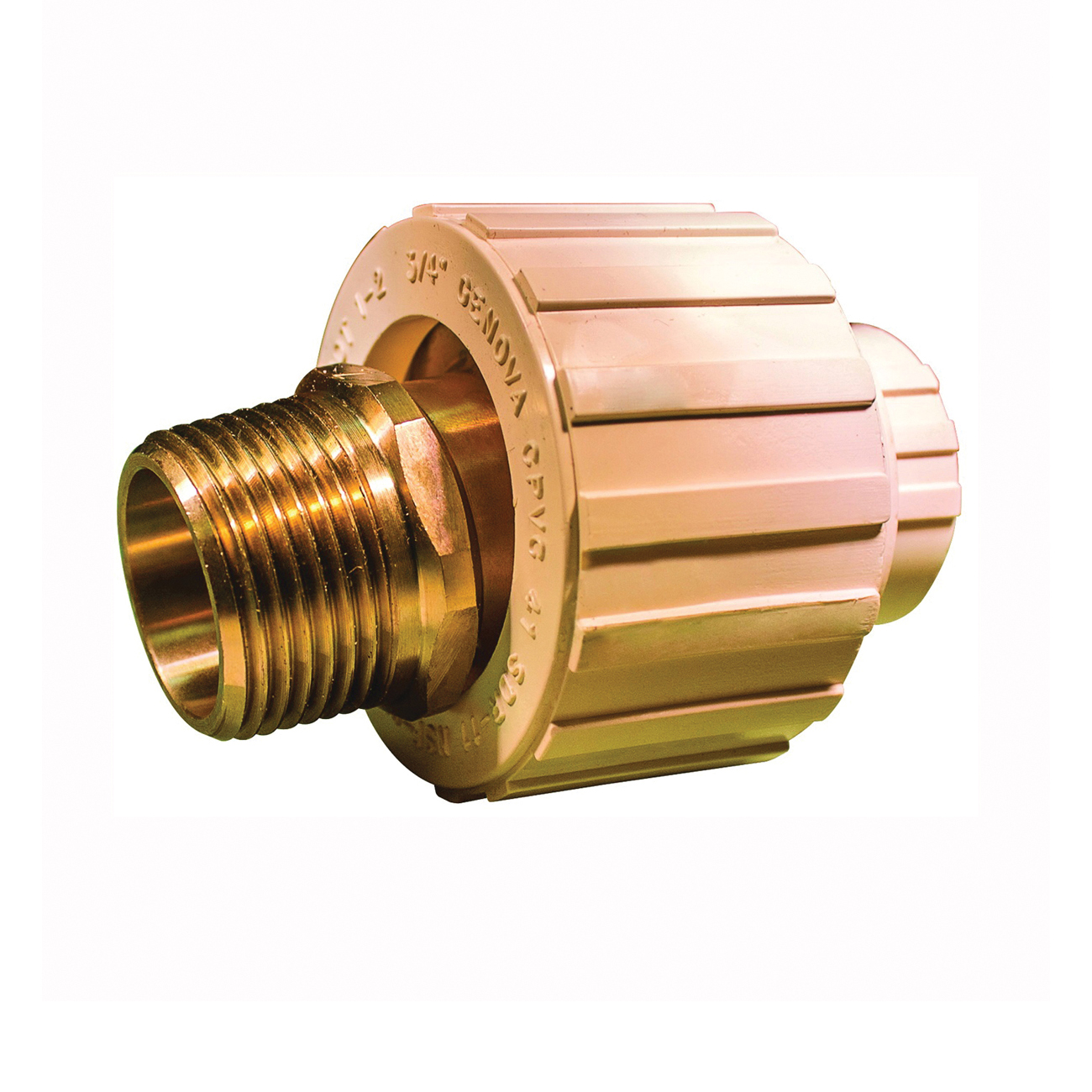 Picture of GENOVA 500 Series 53050Z Transition Union, 3/4 in, Slip Joint x MIP, 100 psi Pressure