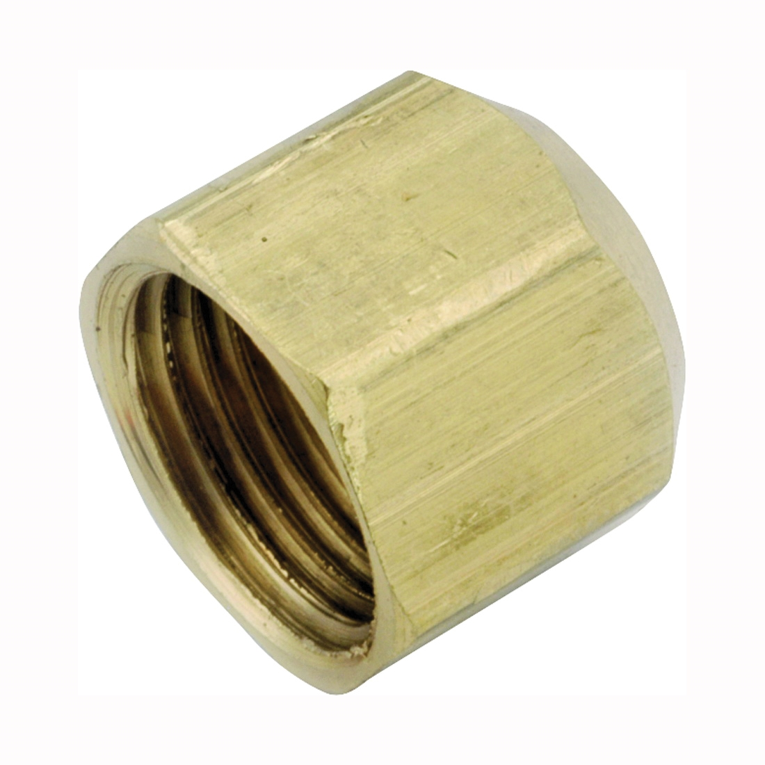 Picture of Anderson Metals 754040-04 Tube Cap, 1/4 in, Flare, Brass