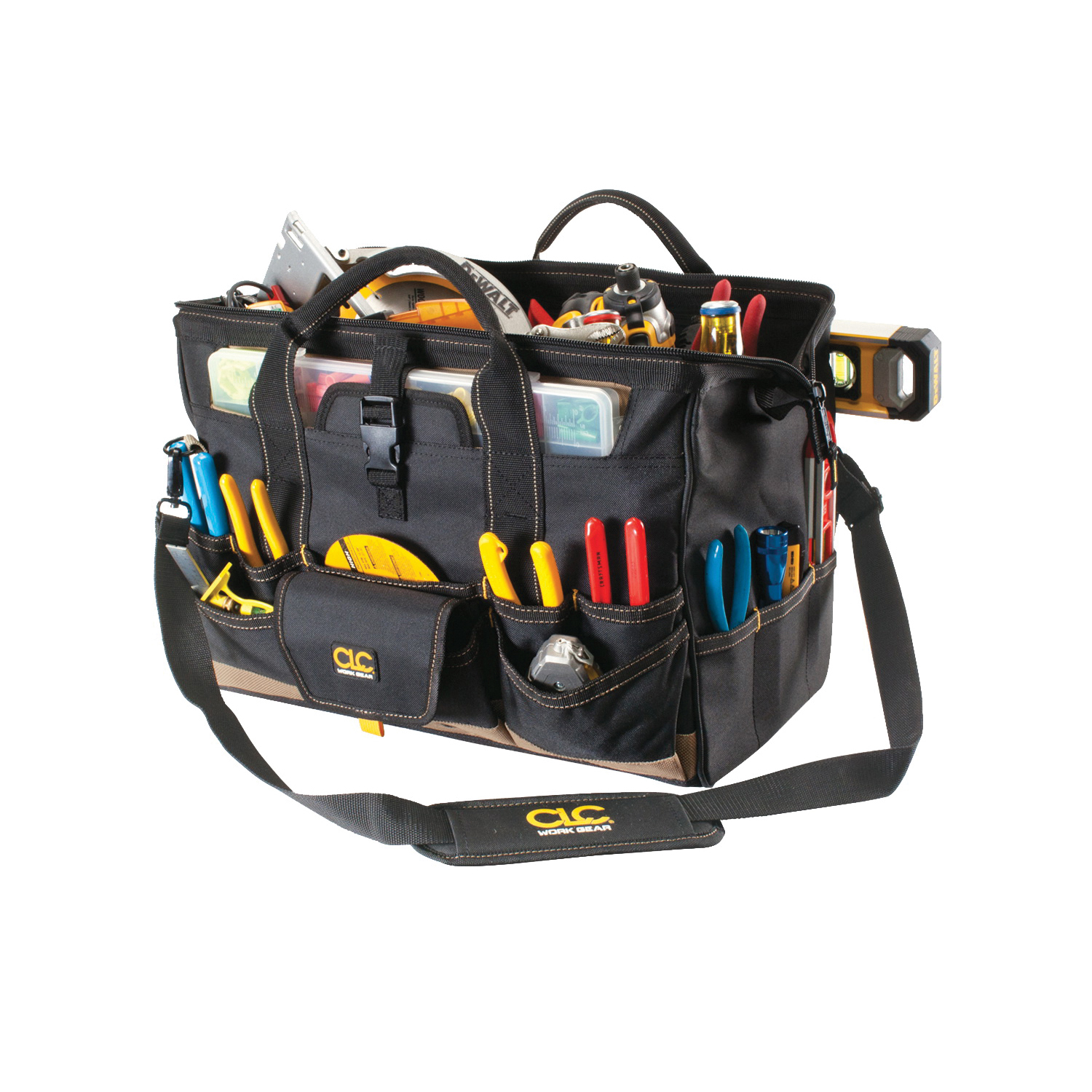 Picture of CLC Tool Works 1535 Tool Bag, 11 in W, 11 in D, 18 in H, 37 -Pocket, Polyester