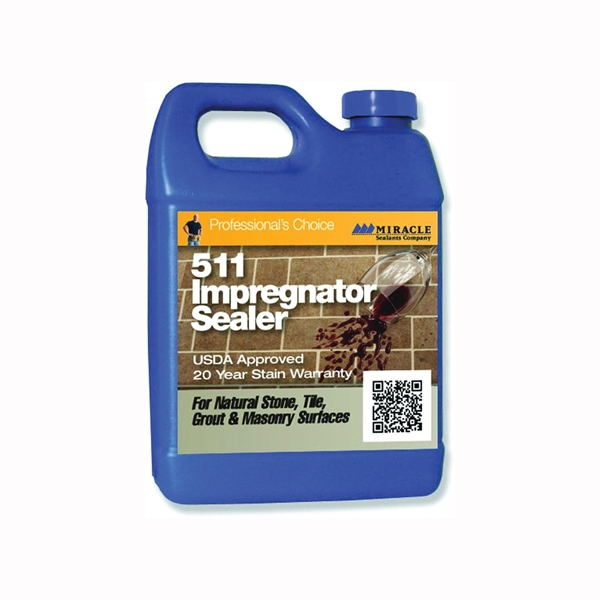 Picture of MIRACLE SEALANTS 511 Series 511-QT-6/1 Impregnator Sealer, Liquid, Colorless, 1 qt, Can