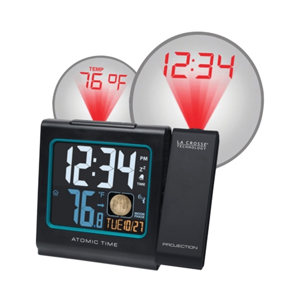 Picture of La Crosse 616-146A Alarm Clock, AAA Alkaline Battery, Digital Display, Plastic Case, Black Case