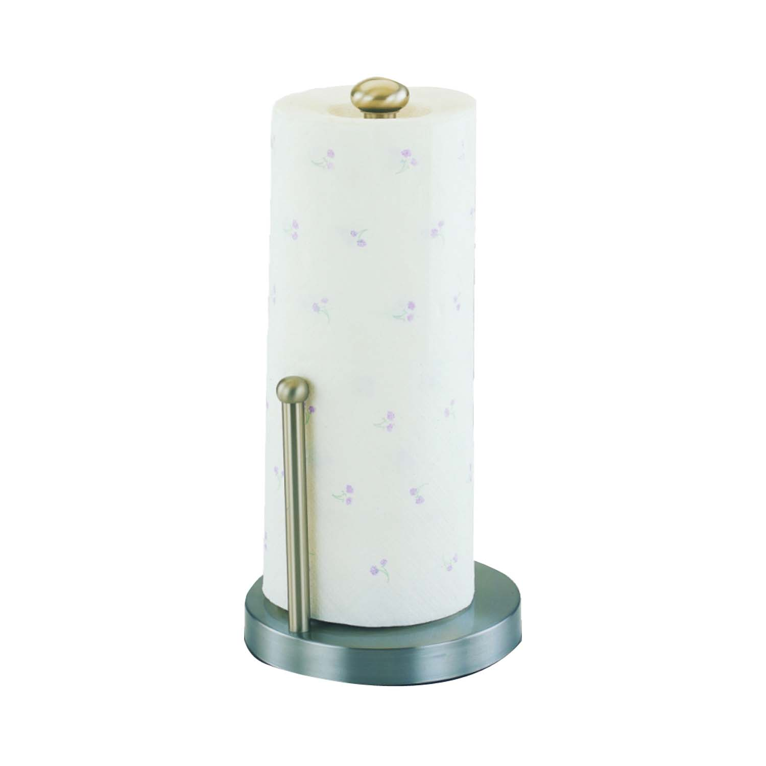 Picture of Simple Spaces L1070-26-02-M Paper Towel Holder, 6-1/2 in Dia Rod, 13-1/2 in L Rod, Brass/Stainless Steel, Satin
