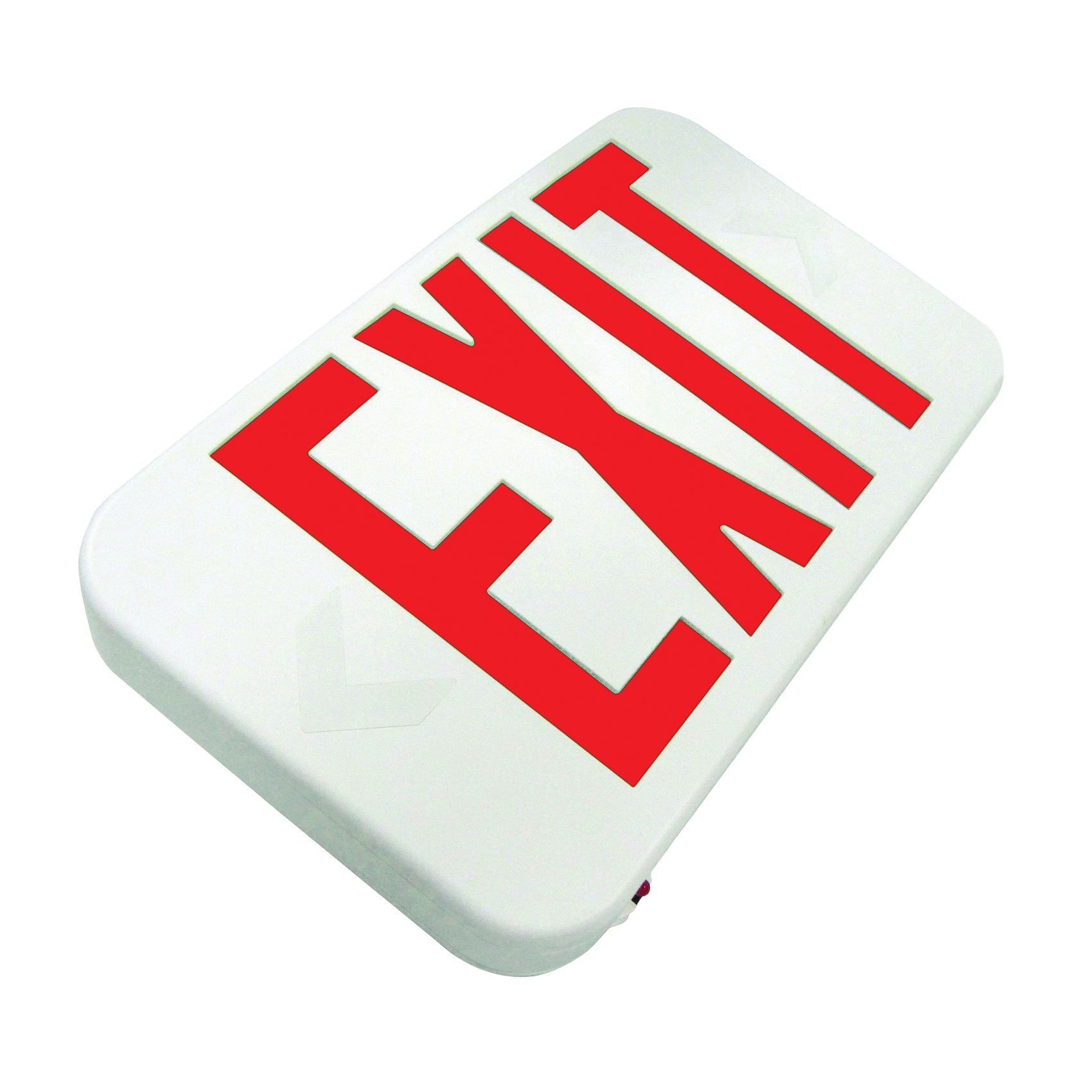 Picture of HOWARD LIGHTING HL0301B2RW Exit Sign, 7-3/16 in OAW, 11-5/8 in OAH, 120/277 VAC, Thermoplastic Fixture, White
