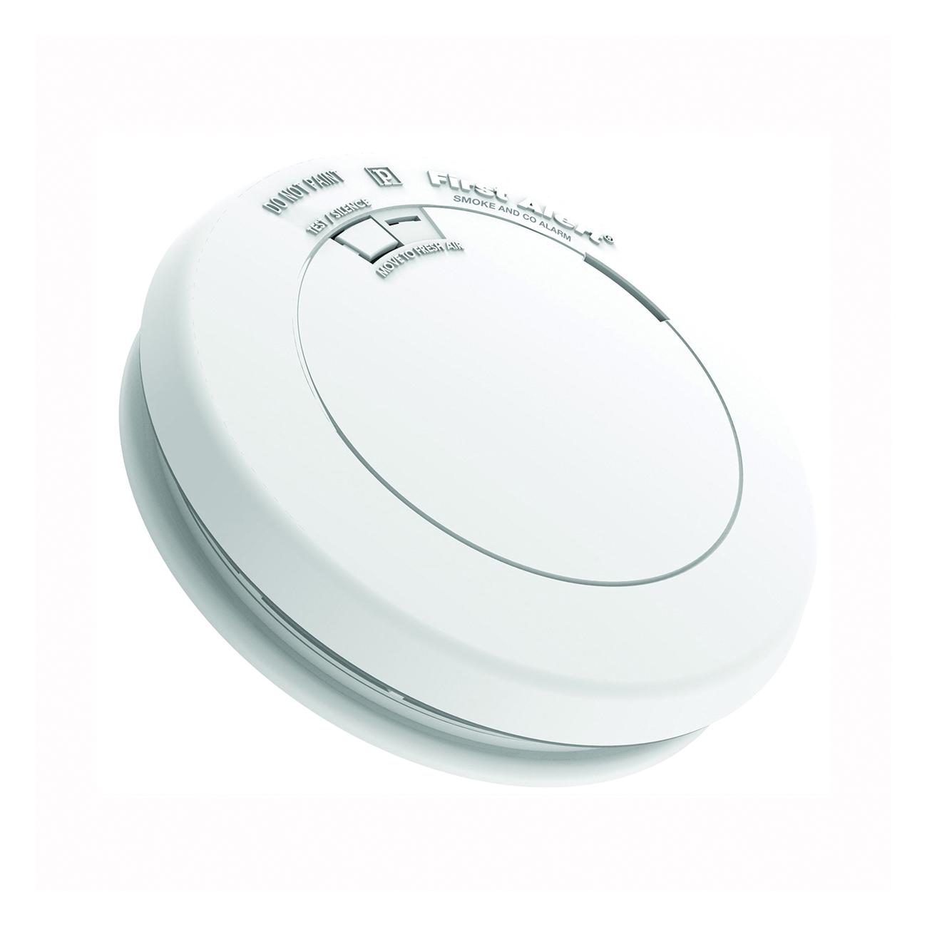 Picture of FIRST ALERT PRC700 Carbon Monoxide Alarm, 85 dB, Alarm: Audible, Electrochemical, Photoelectric Sensor, White
