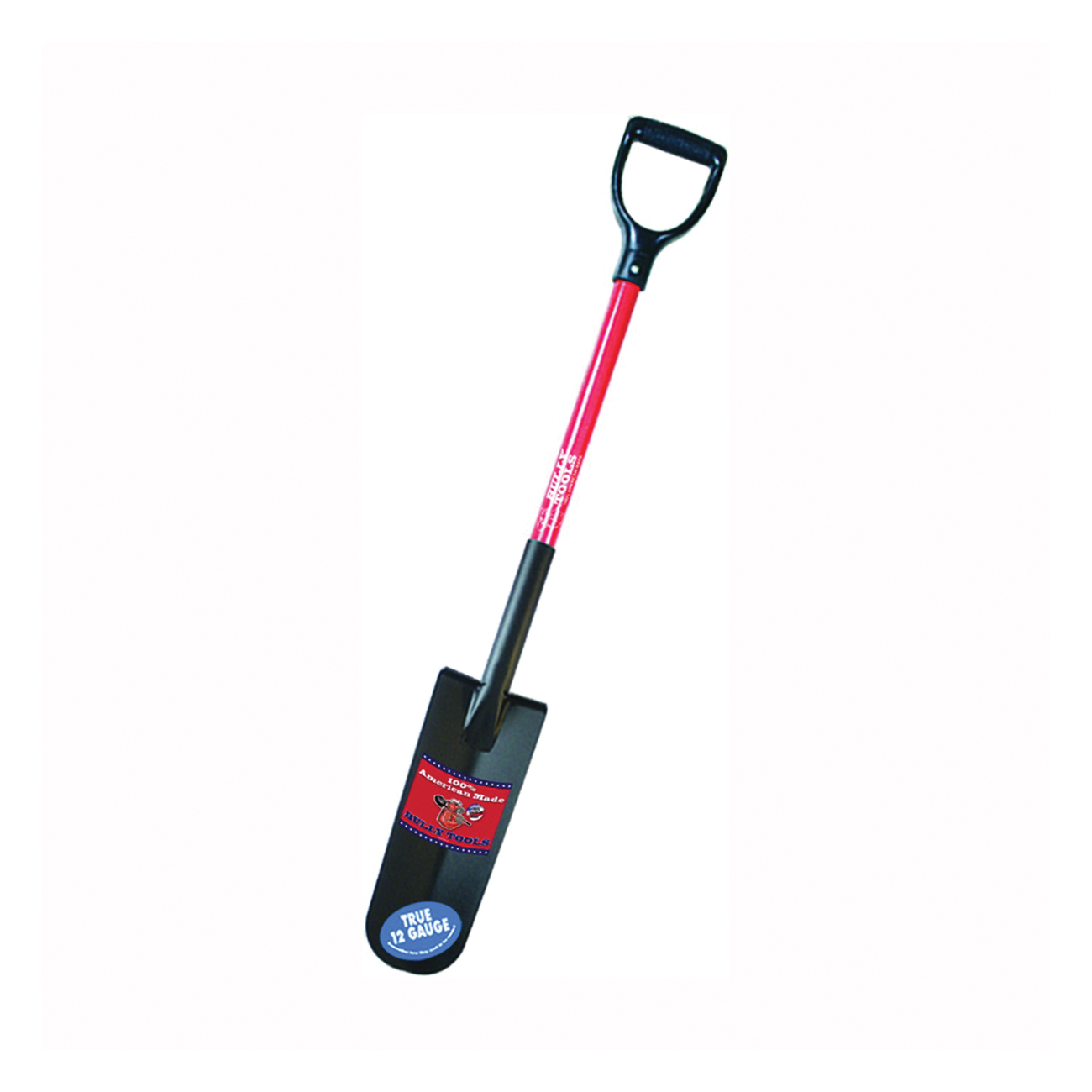 Picture of BULLY Tools 82535 Drain Spade Shovel, 5-1/4 in W Blade, Steel Blade, Fiberglass Handle, D-Shaped Handle