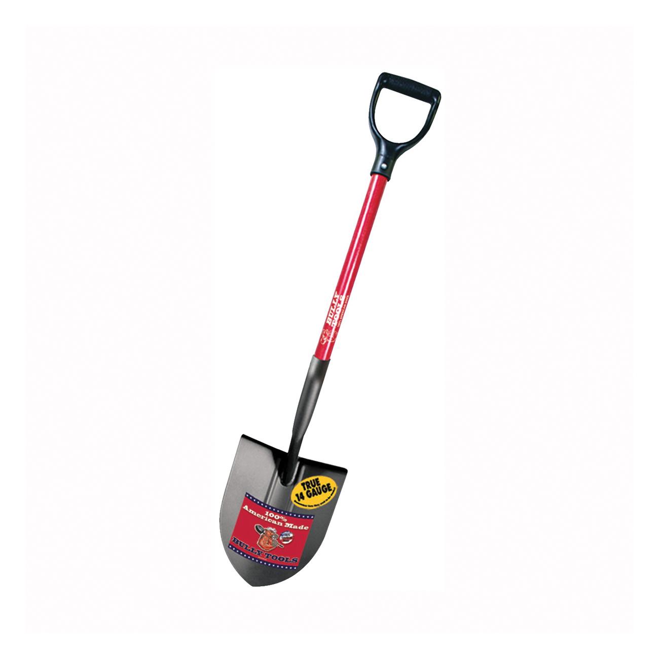 Picture of BULLY Tools 82510 Digging Shovel, 9 in W Blade, 14 ga Gauge, American Steel Blade, Fiberglass Handle