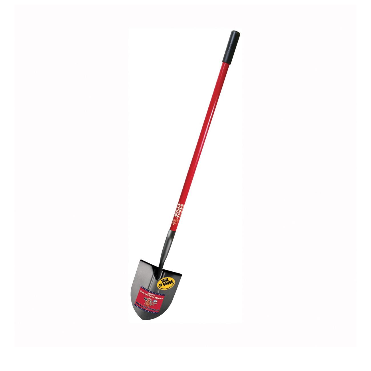 Picture of BULLY Tools 82515 Shovel, 9 in W Blade, 14 ga Gauge, Steel Blade, Fiberglass Handle, Long Handle