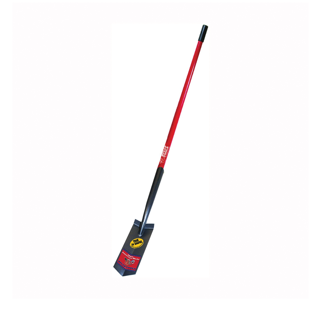 Picture of BULLY Tools 92720 Trenching Shovel, 4 in W Blade, 14 ga Gauge, Steel Blade, Fiberglass Handle, Long Handle