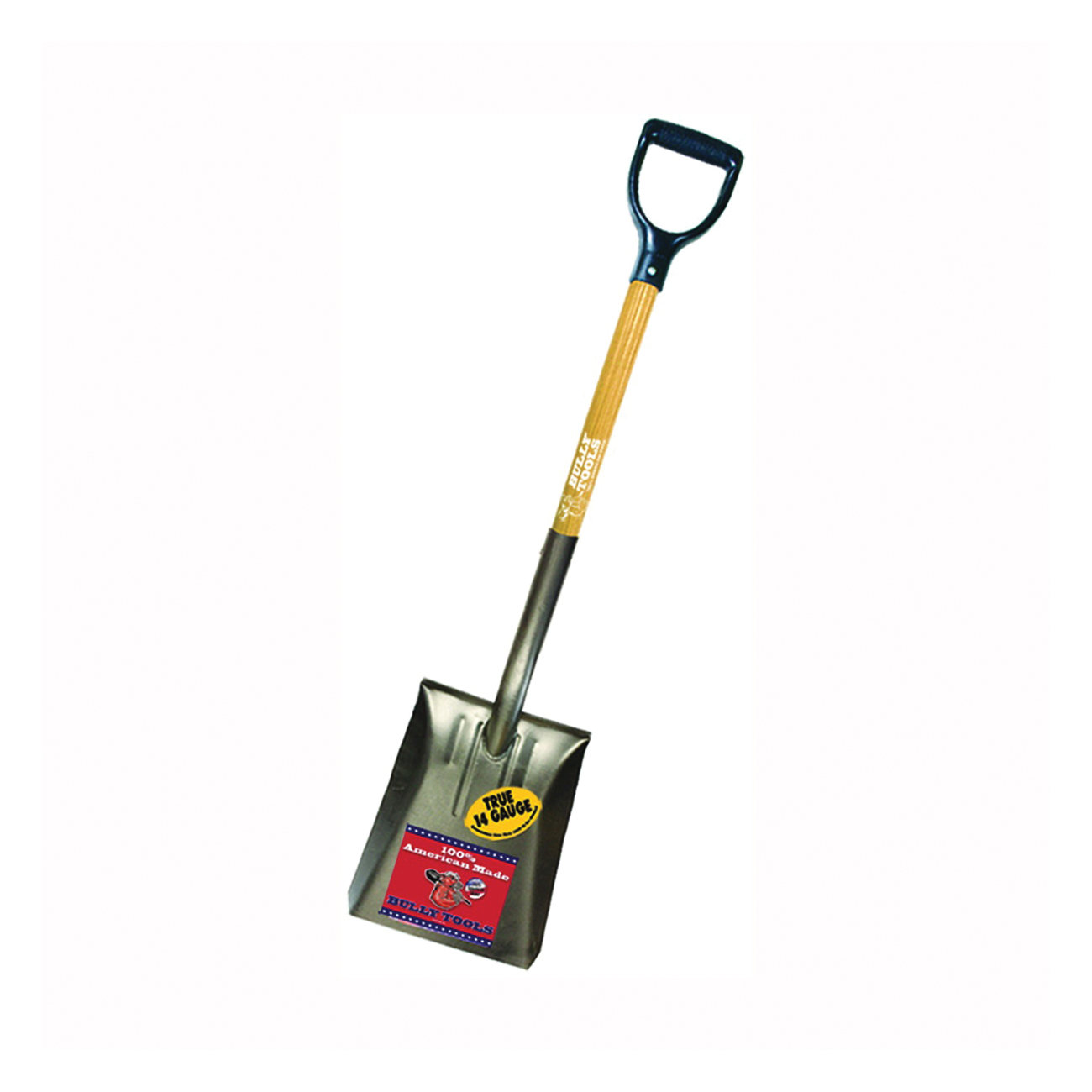 Picture of BULLY Tools 72520 Shovel, 9-1/2 in W Blade, 14 ga Gauge, Steel Blade, Ashwood Handle, D-Shaped Handle