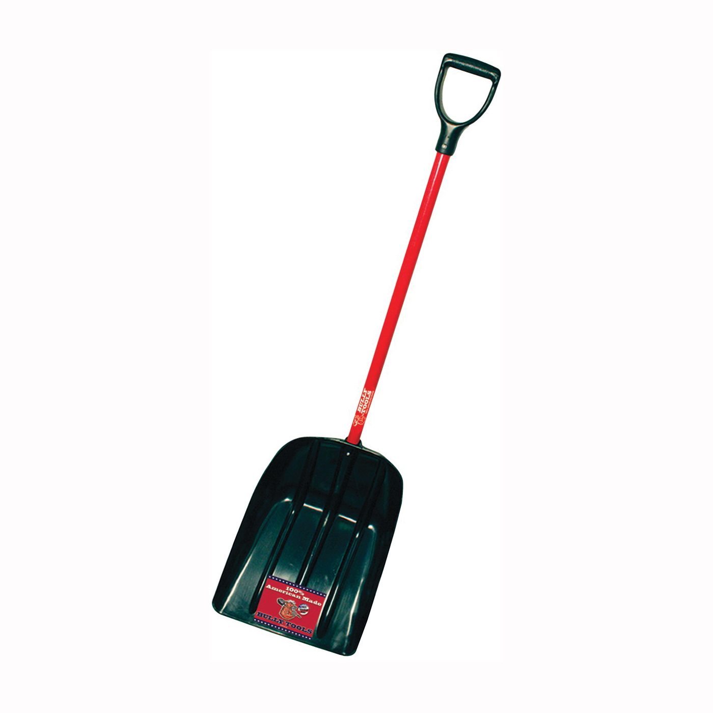 Picture of BULLY Tools 92400 Grain and Snow Shovel, 15 in W Blade, 19-3/4 in L Blade, Poly Blade, Fiberglass Handle