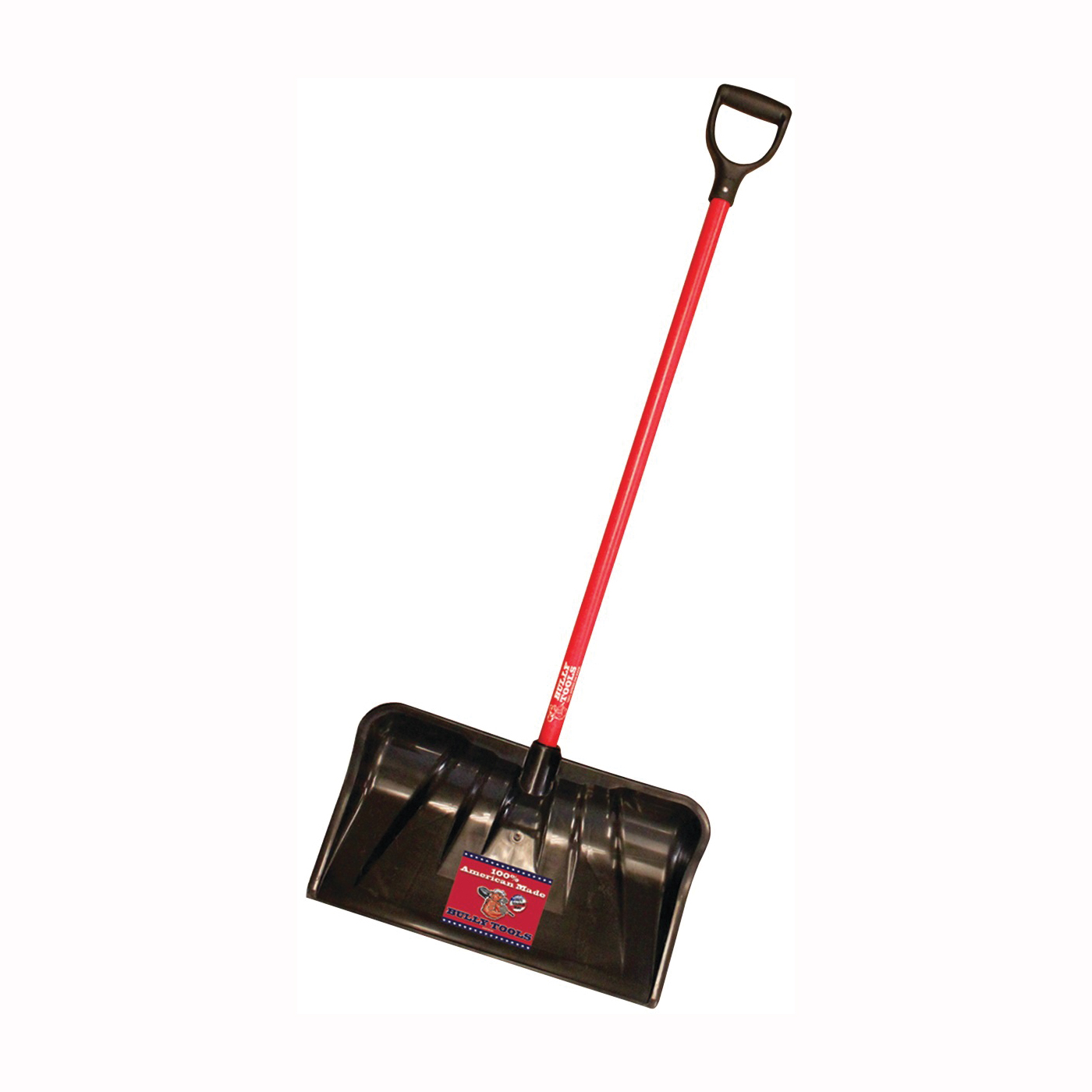 Picture of BULLY Tools 92814 Snow Shovel, 22 in W Blade, 19-3/4 in L Blade, Plastic Blade, Fiberglass Handle, 56 in OAL