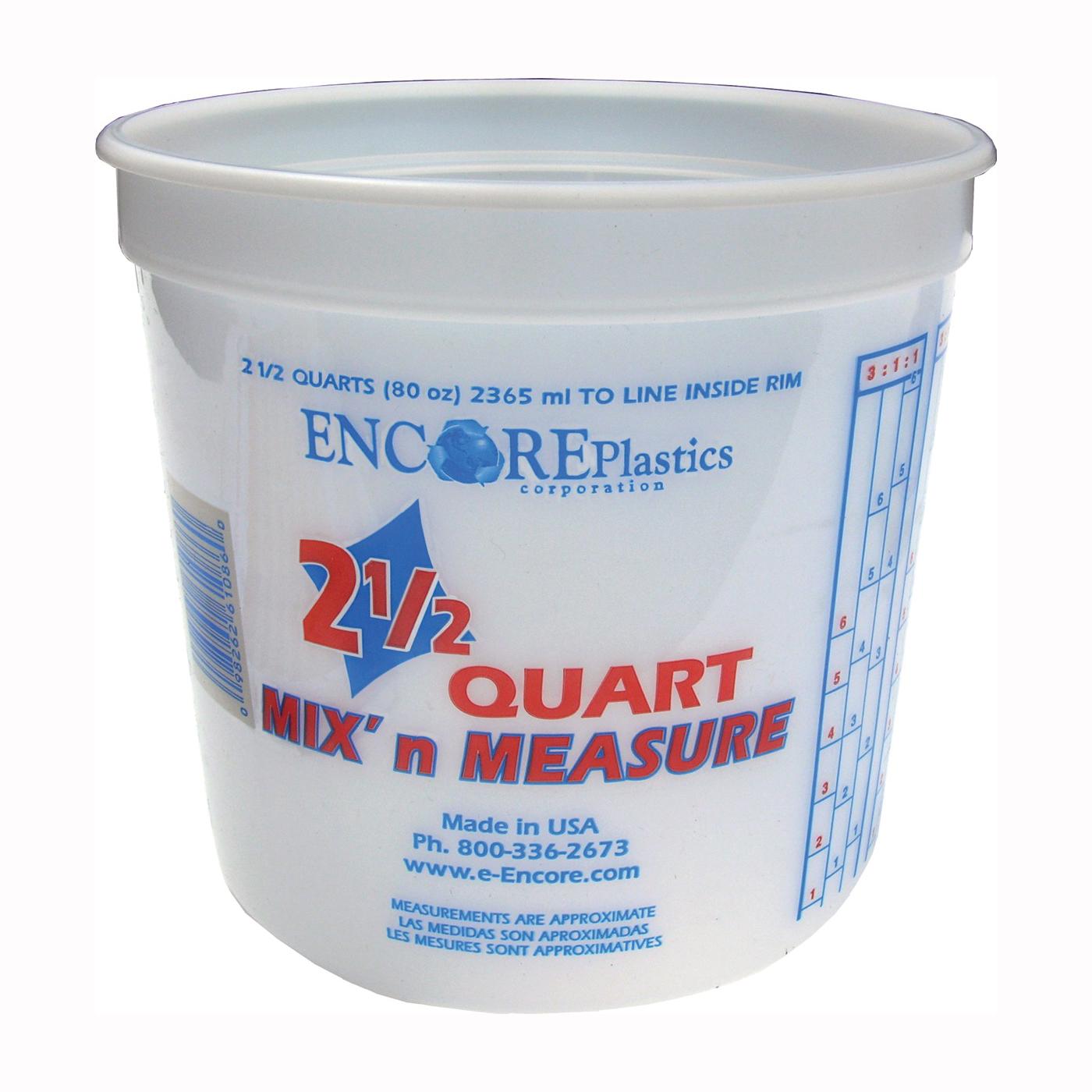 Picture of ENCORE Plastics 300344 Paint Container, 2.5 qt Capacity, Plastic
