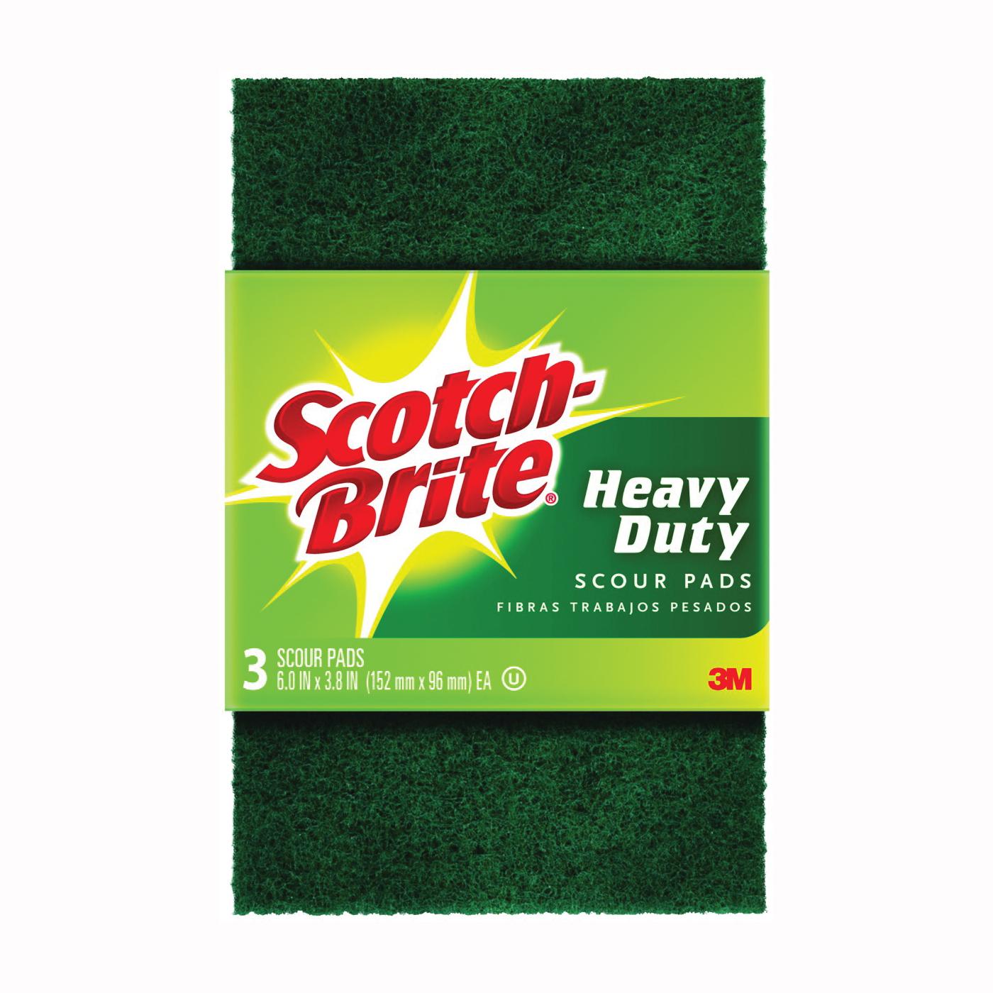 Picture of Scotch-Brite 223-7 Scour Pad, 6 in L, 3.8 in W, Green