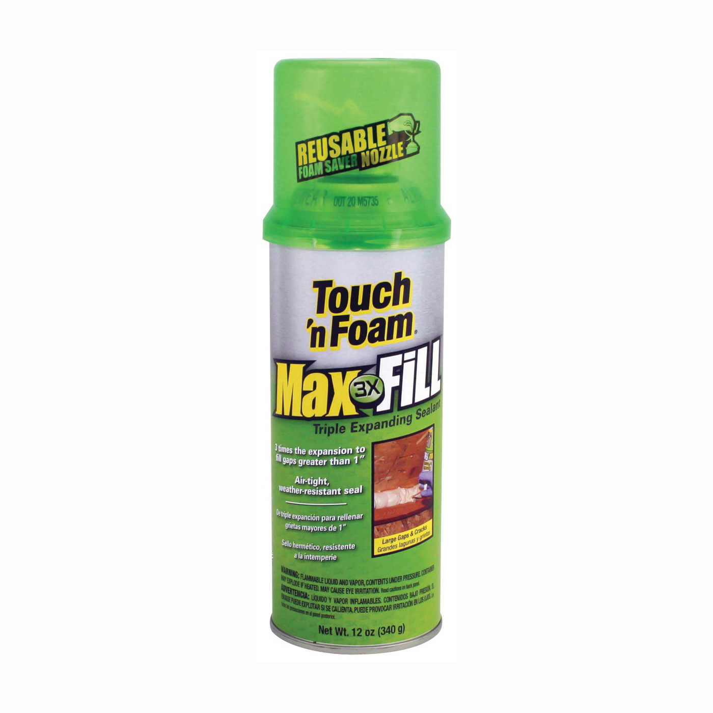 Picture of Touch 'n Foam 4001031212 Foam Sealant, Amber, 12 oz Package, Can