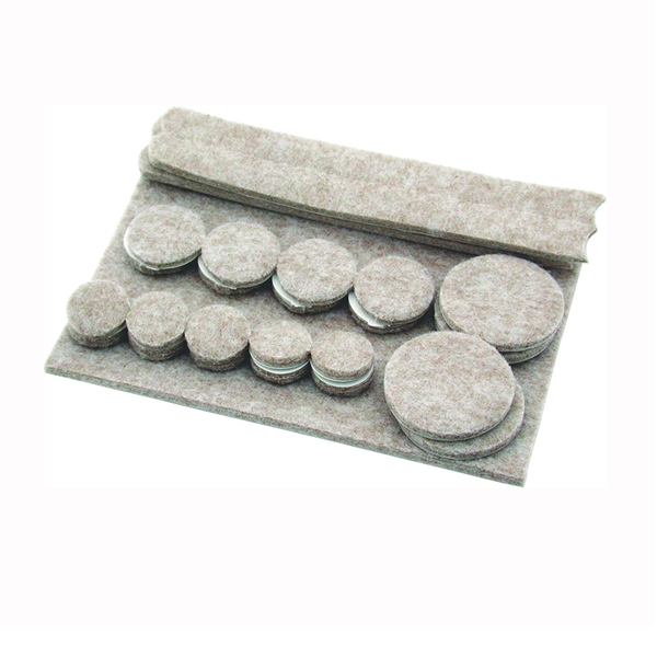 Picture of Shepherd Hardware 9947 Protective Pad Kit, Felt Cloth, Beige, 6 in L, 4-1/4 in W, Rectangular