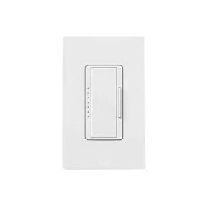 Picture of Lutron Maestro MACL-153M-RHW-WH C.L Dimmer Kit, 1.25 A, 120 V, 150 W, CFL, Halogen, Incandescent, LED Lamp, 3-Way