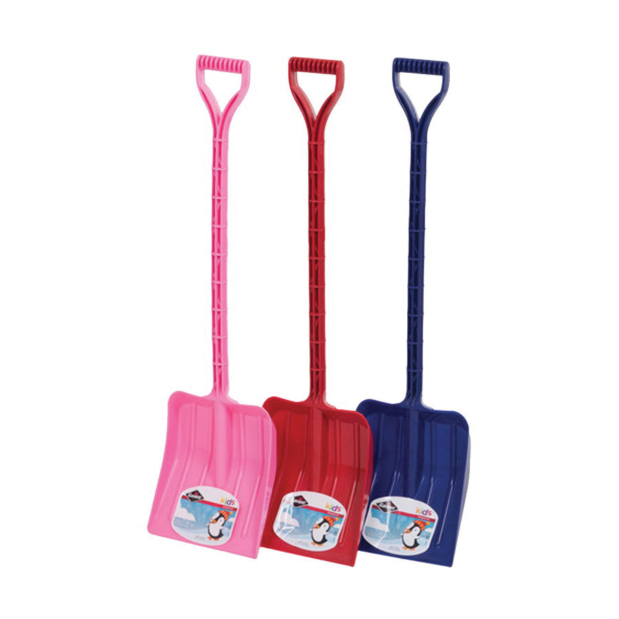 Picture of GARANT GKPS09D12 Kids Snow Shovel, 9 in W Blade, 10-3/8 in L Blade, Square point Blade, Polyethylene Blade, 38 OAL