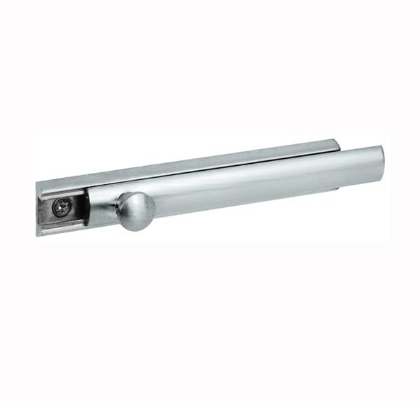 Picture of Defender Security U 10306 Slide Bolt, 4 in L Bolt, Brass, Satin Nickel