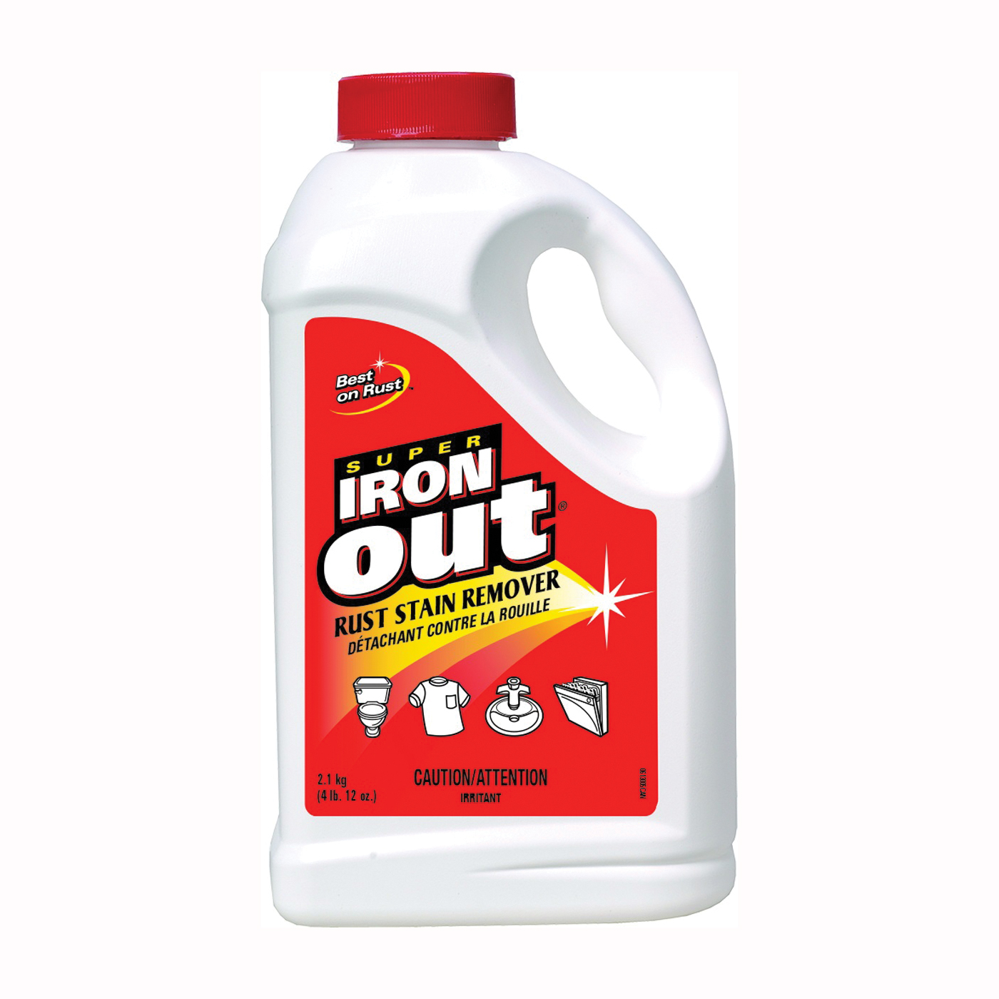 Picture of IRON OUT C-IO65N Stain Remover, 2.1 kg Package, Bottle, Powder, Mint