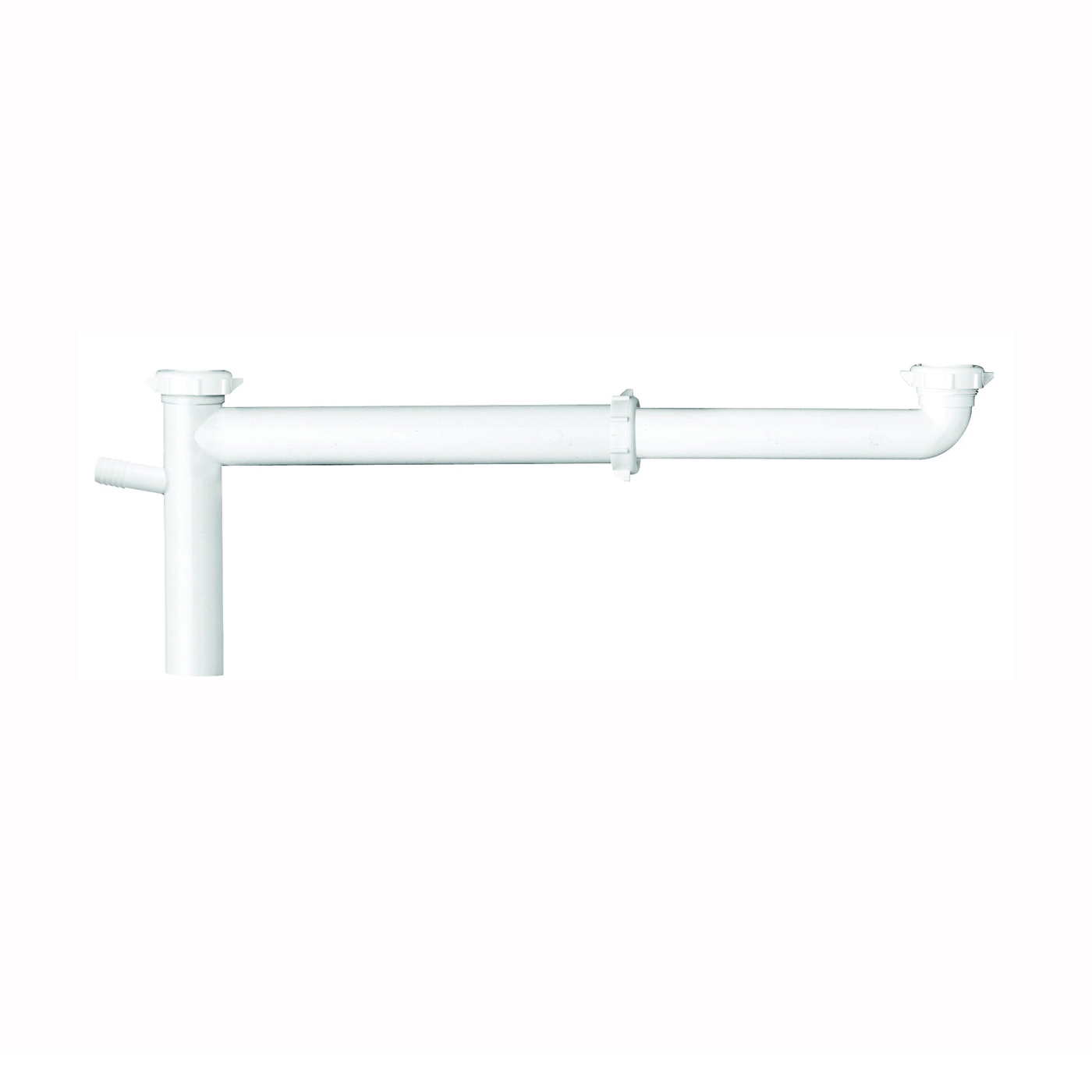 Picture of Plumb Pak PP919W End Waste Outlet, 1-1/2 in, Slip Joint, Plastic, White