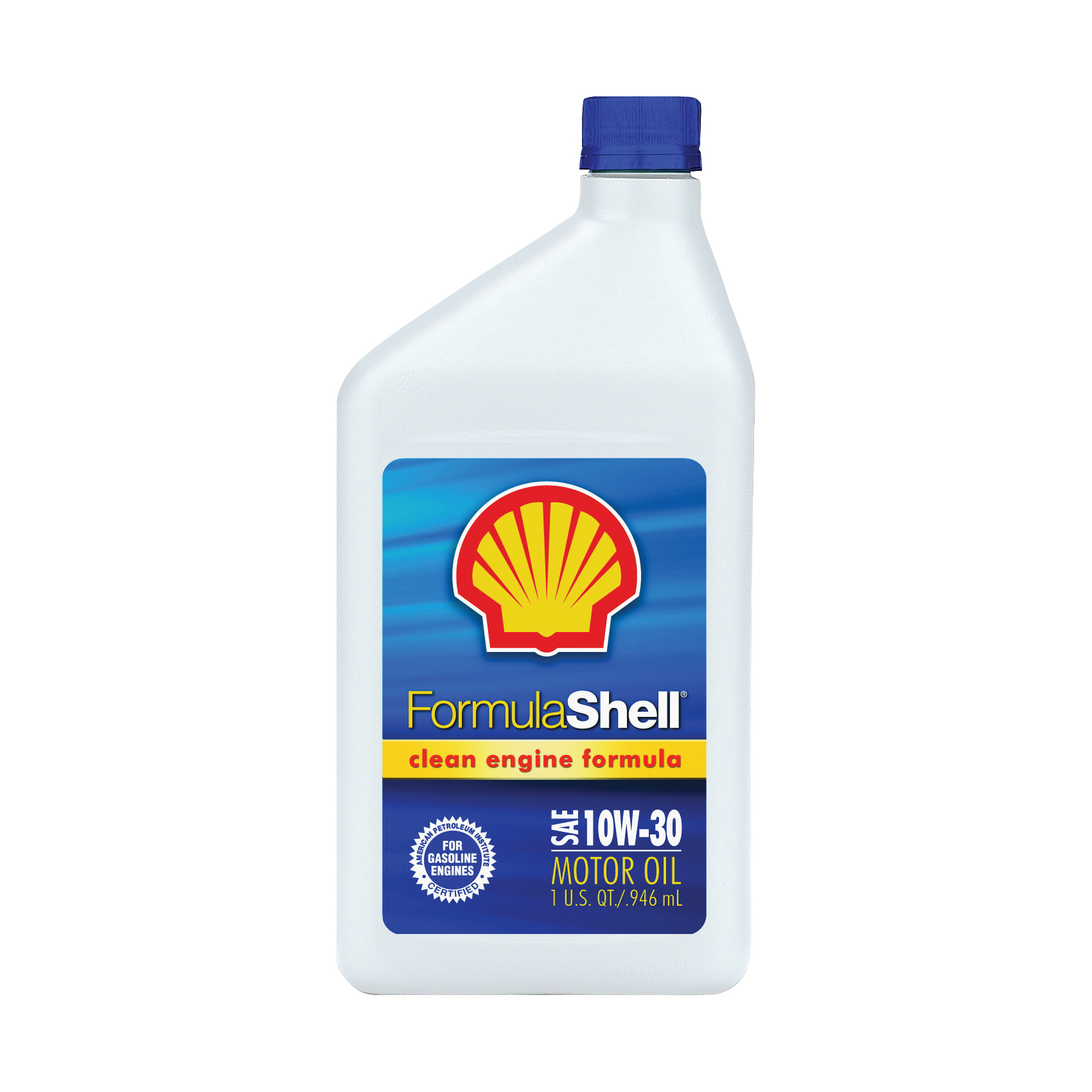 Picture of Formula Shell Clean Engine 550024081 Motor Oil, 10W-30, 1 qt Package, Bottle