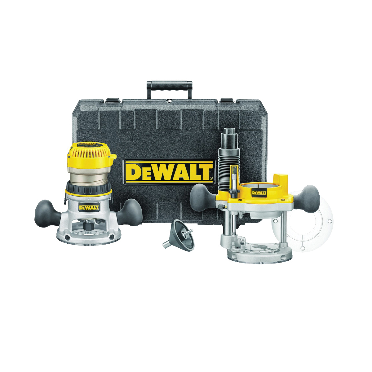 Picture of DeWALT DW618PK Fixed Base Router Combo Kit, 120 V, 12 A, 8000 to 24,000 rpm No Load
