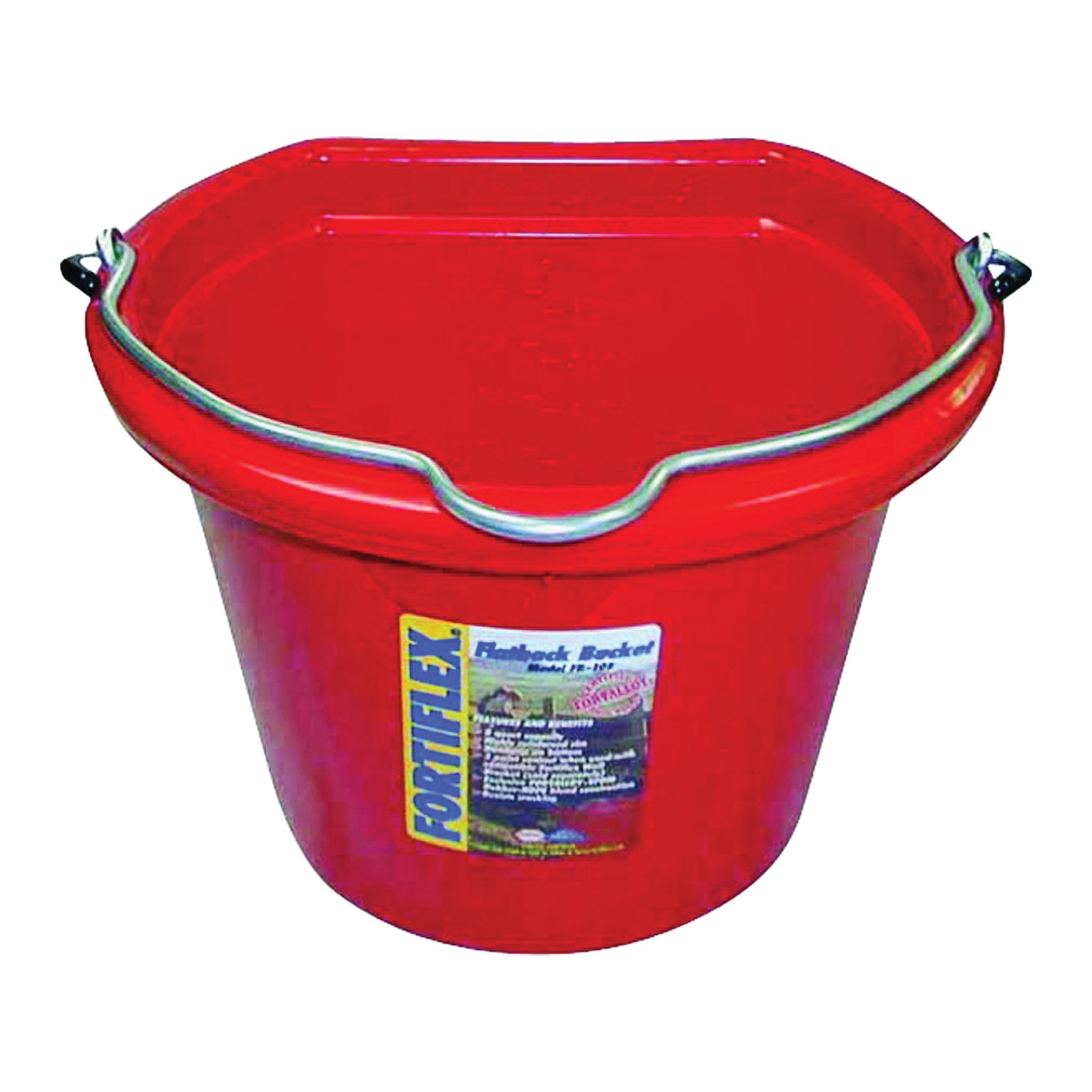 Picture of FORTEX-FORTIFLEX FB-108 FB-108R Bucket, 8 qt Volume, Rubber/Polyethylene, Red