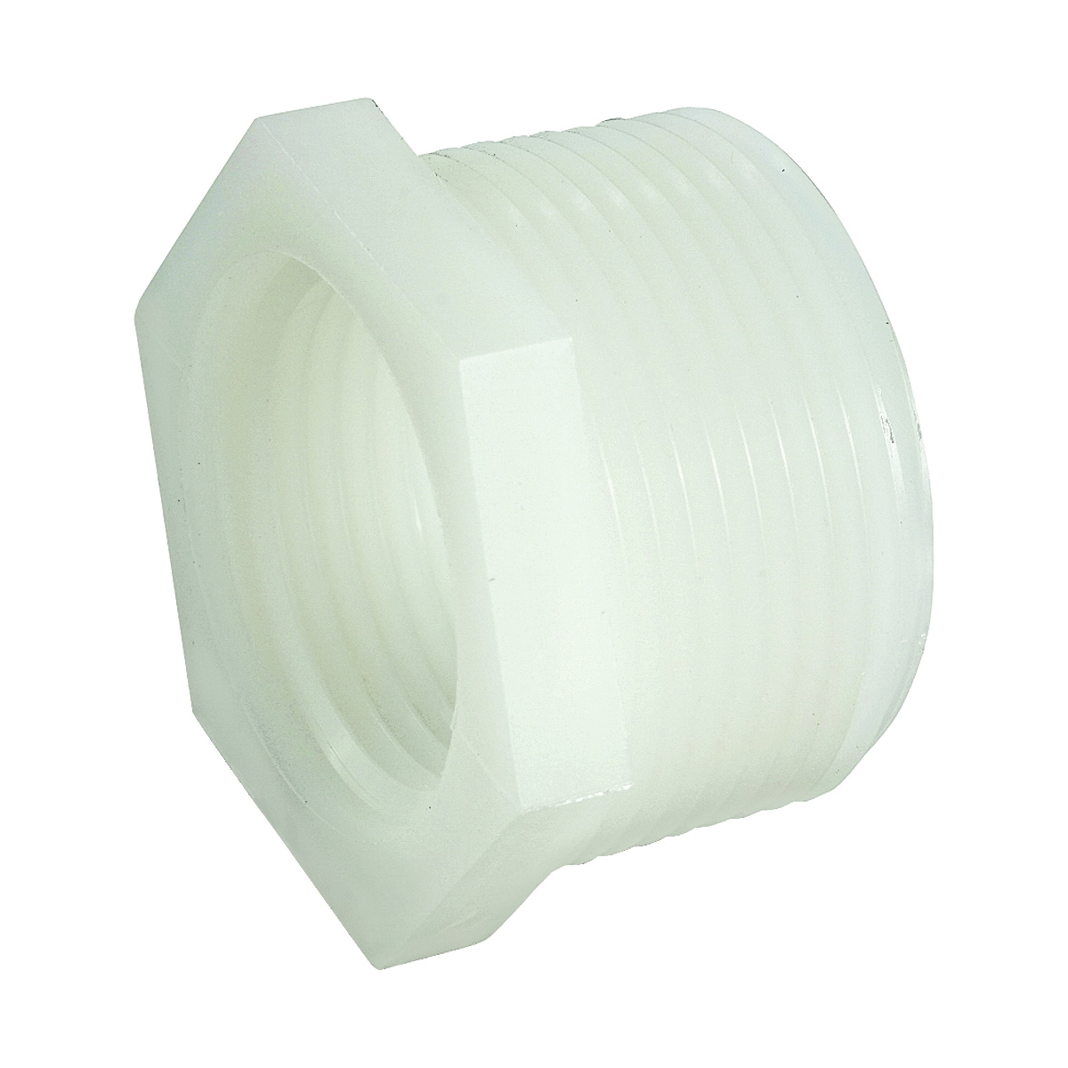 Picture of Anderson Metals 53610-0804 Pipe Reducing Bushing, 1/2 x 1/4 in, Male x Female Thread, 150 psi Pressure