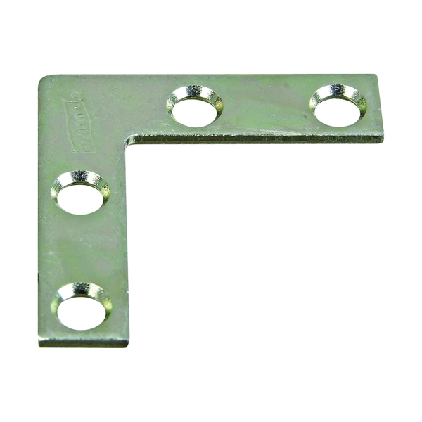 Picture of National Hardware 115BC Series N266-460 Corner Brace, 1-1/2 in L, 3/8 in W, 1-1/2 in H, Steel, Zinc