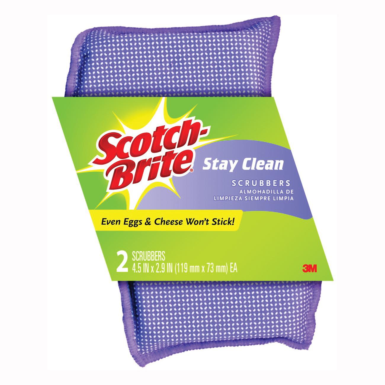 Picture of Scotch-Brite 202 Clean Rinse Scrubber, 4-1/2 in L, 2.7 in W