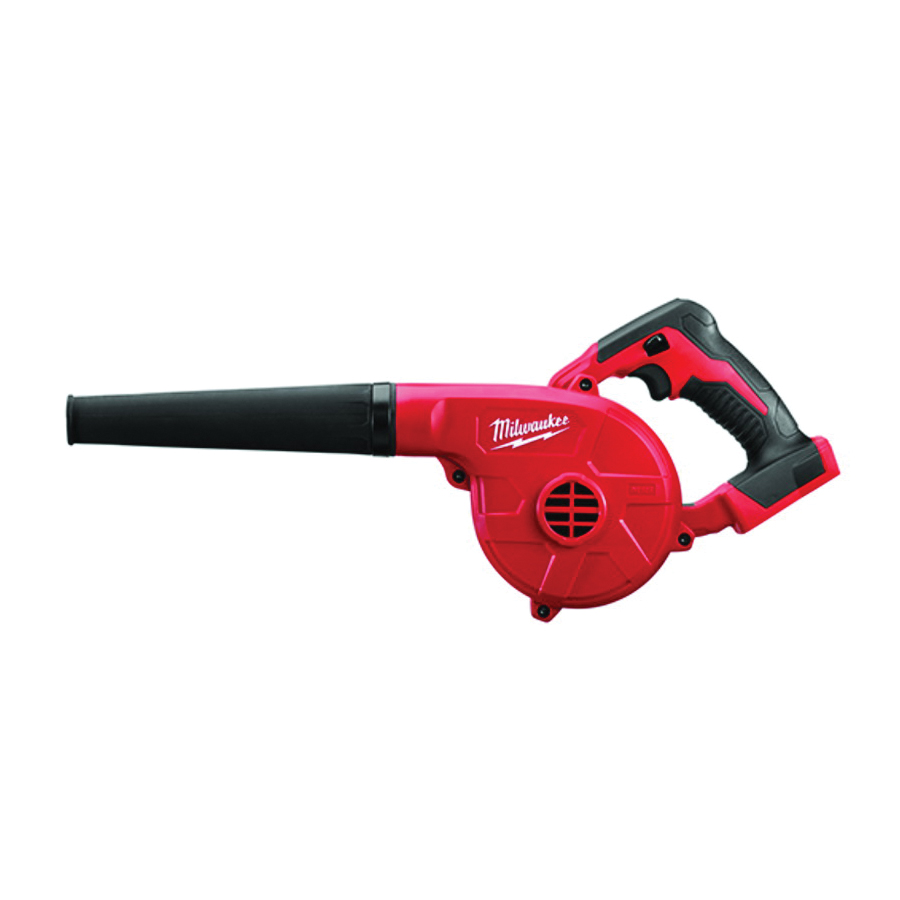 Picture of Milwaukee 0884-20 Compact Blower, 18 V Battery, Lithium-Ion Battery, 3 -Speed, 100 cfm Air, Red