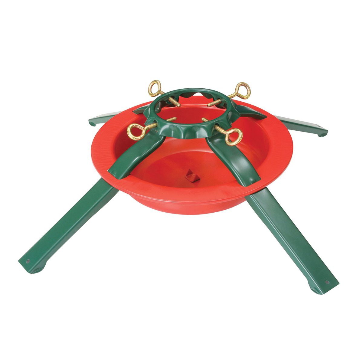 Picture of Holidaybasix 5180 Natural Tree Stand, Steel, Green/Red, Powder-Coated