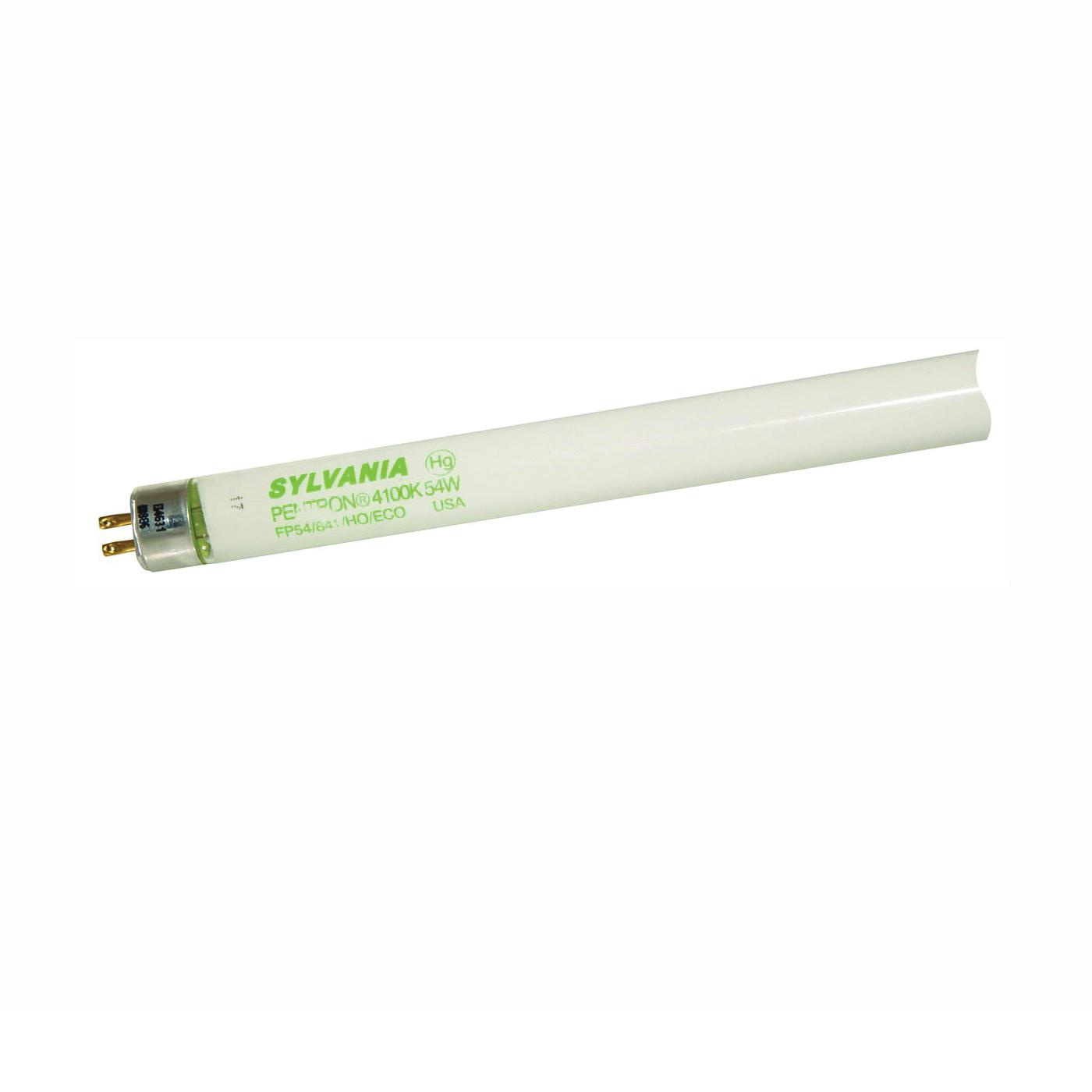 Picture of Sylvania 20906 Fluorescent Lamp, 54 W, T5 Lamp, Miniature G5 Lamp Base, 4650 Lumens, 4100 K Color Temp