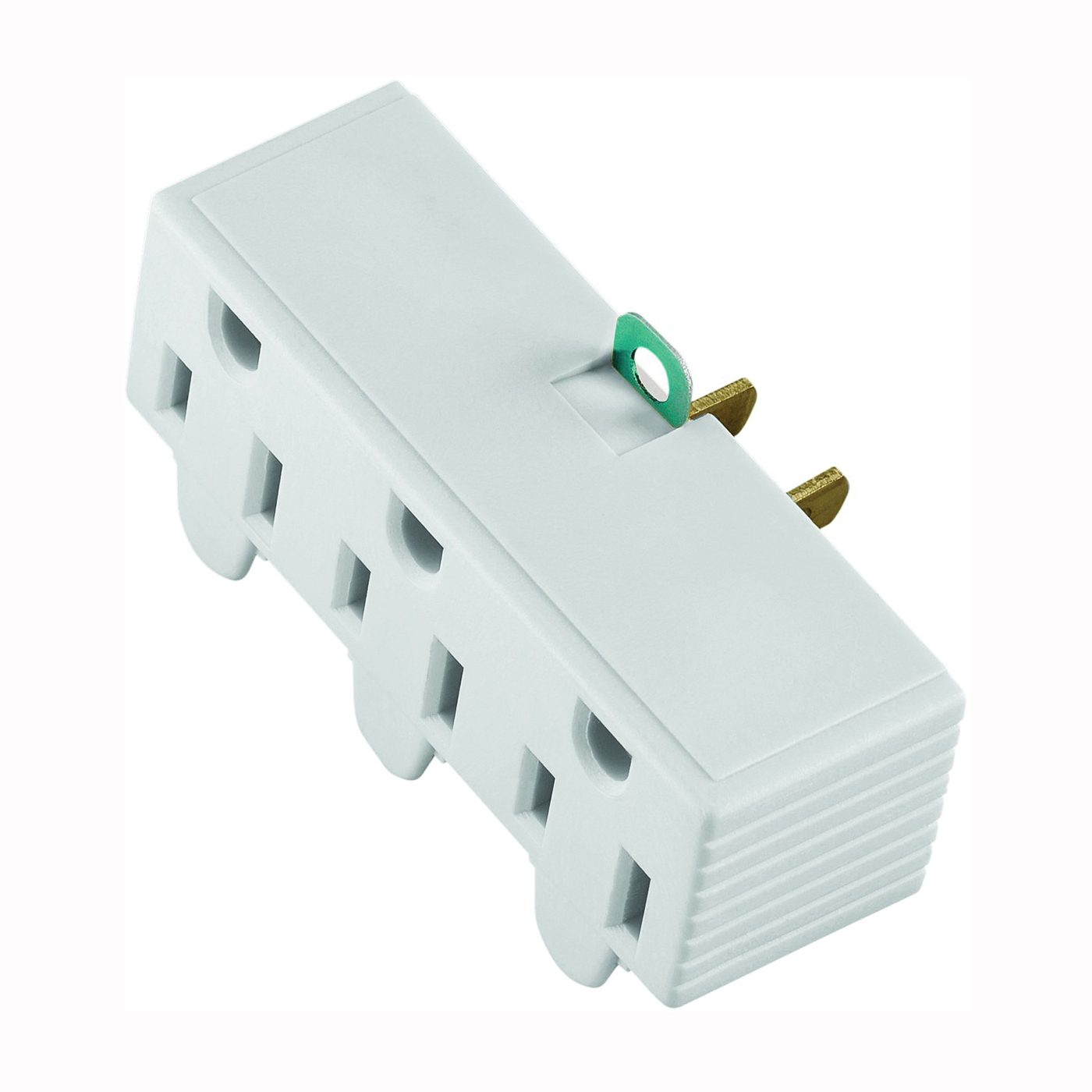Picture of Eaton Wiring Devices BP1219W Outlet Adapter, 2-Pole, 15 A, 125 V, 3-Outlet, NEMA: 1-15 to 5-15, White