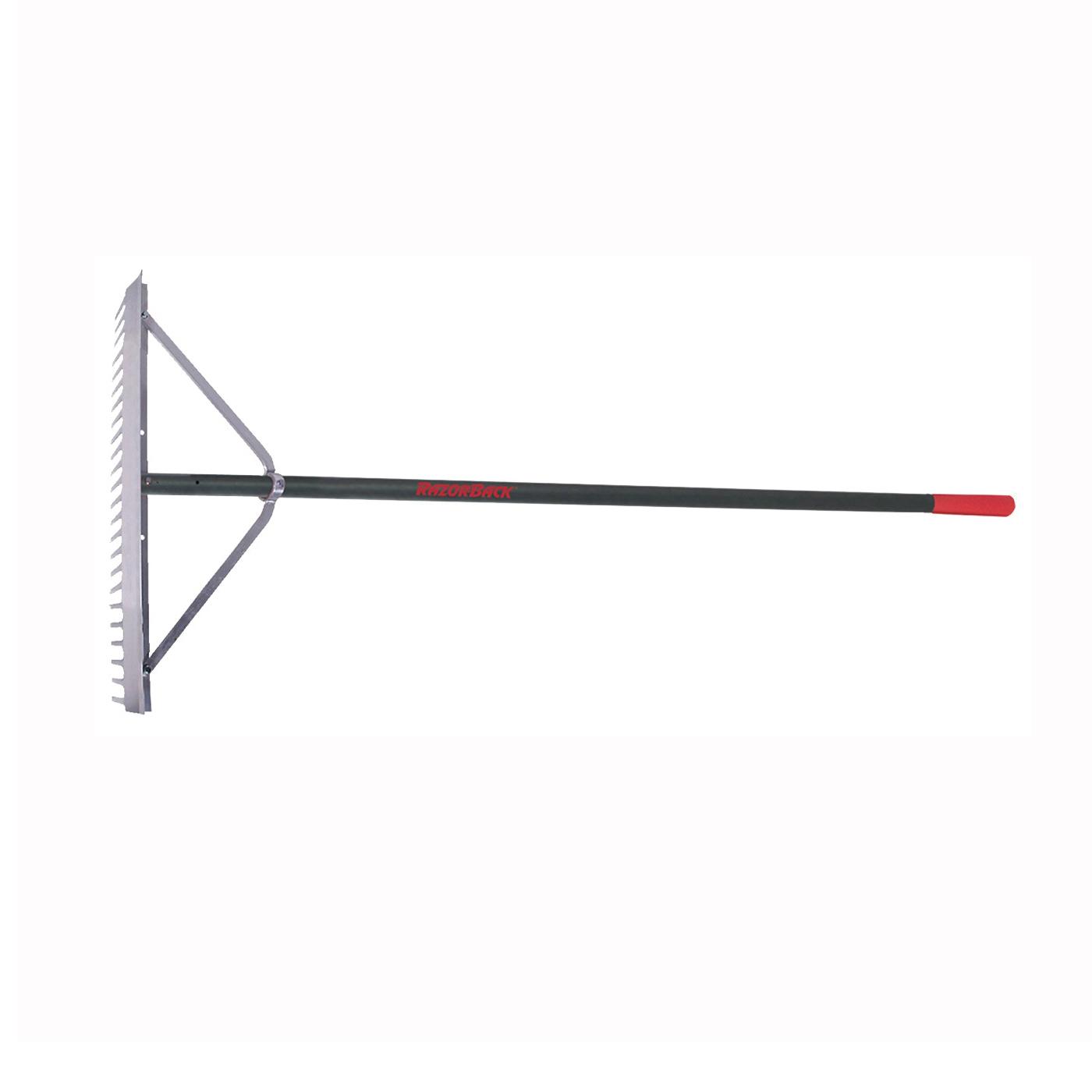 Picture of RAZOR-BACK 63136 Landscape Rake, 4-1/2 in L Head, 24 in W Head, 24 -Tine, Aluminum Head