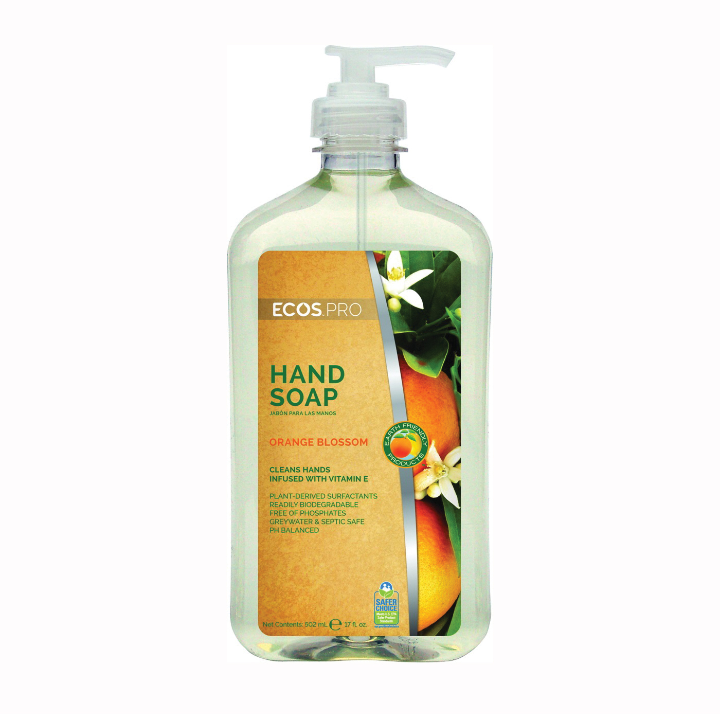 Picture of ECOS PL9484/6 Hand Soap Clear, Liquid, Clear, Floral, 17 oz Package, Bottle