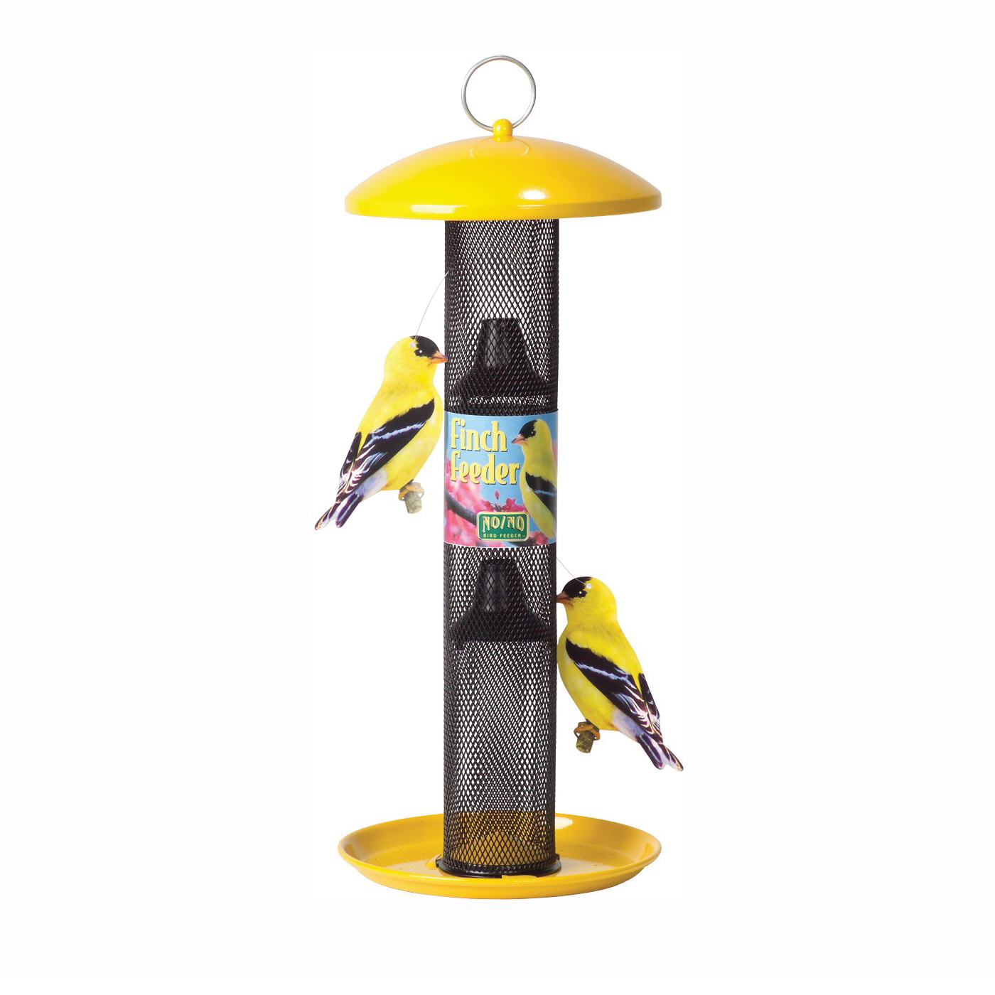 Picture of Perky-Pet NO/NO YSSF00346 Wild Bird Feeder, 18-13/16 in H, 1.5 lb, Metal, Yellow, Powder-Coated, Hanging Mounting