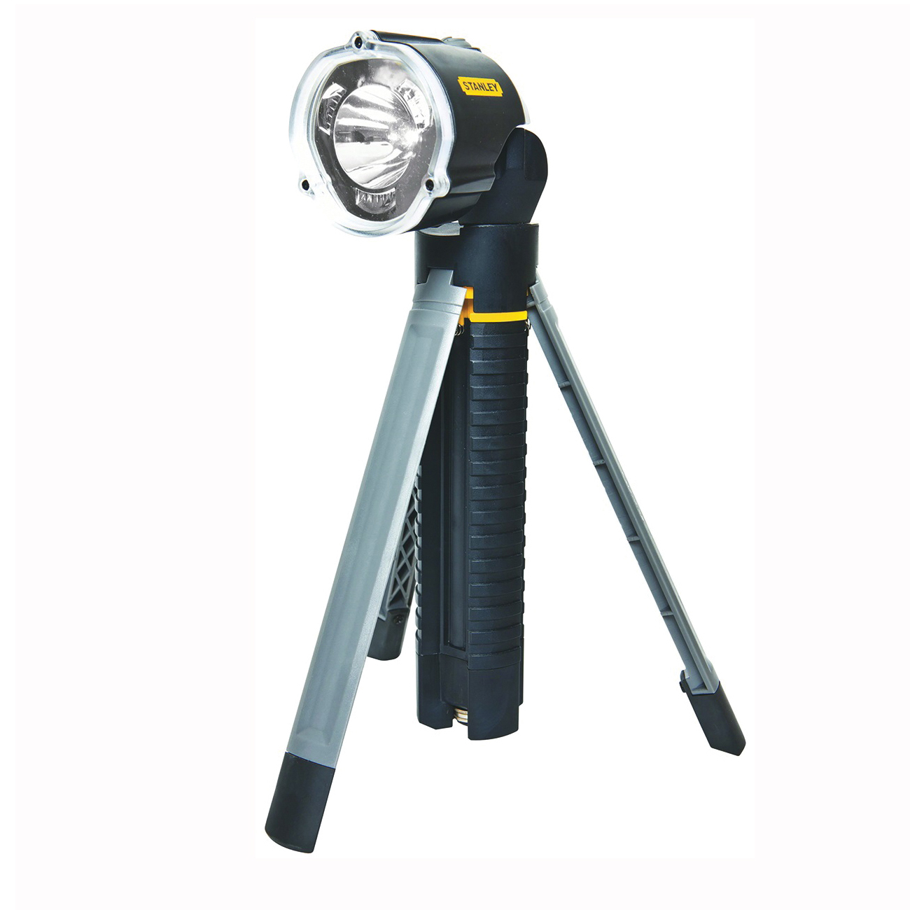 Picture of STANLEY 95-112B Tripod Flashlight, AA Battery, LED Lamp, 30 Lumens, 246 ft Beam Distance, 41 hr Run Time